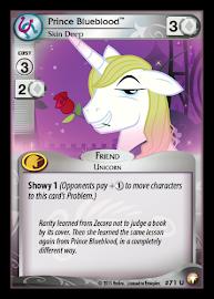My Little Pony Prince Blueblood, Skin Deep Equestrian Odysseys CCG Card