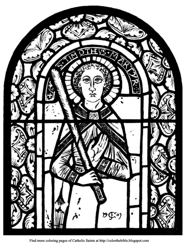 St Timothys Window Coloring Page