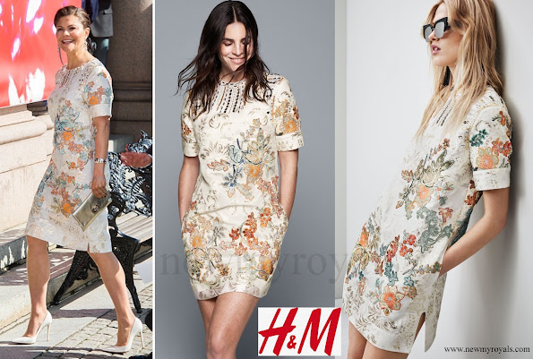 Crown Princess Victoria wore H&M Dress Conscious Exclusive 2016