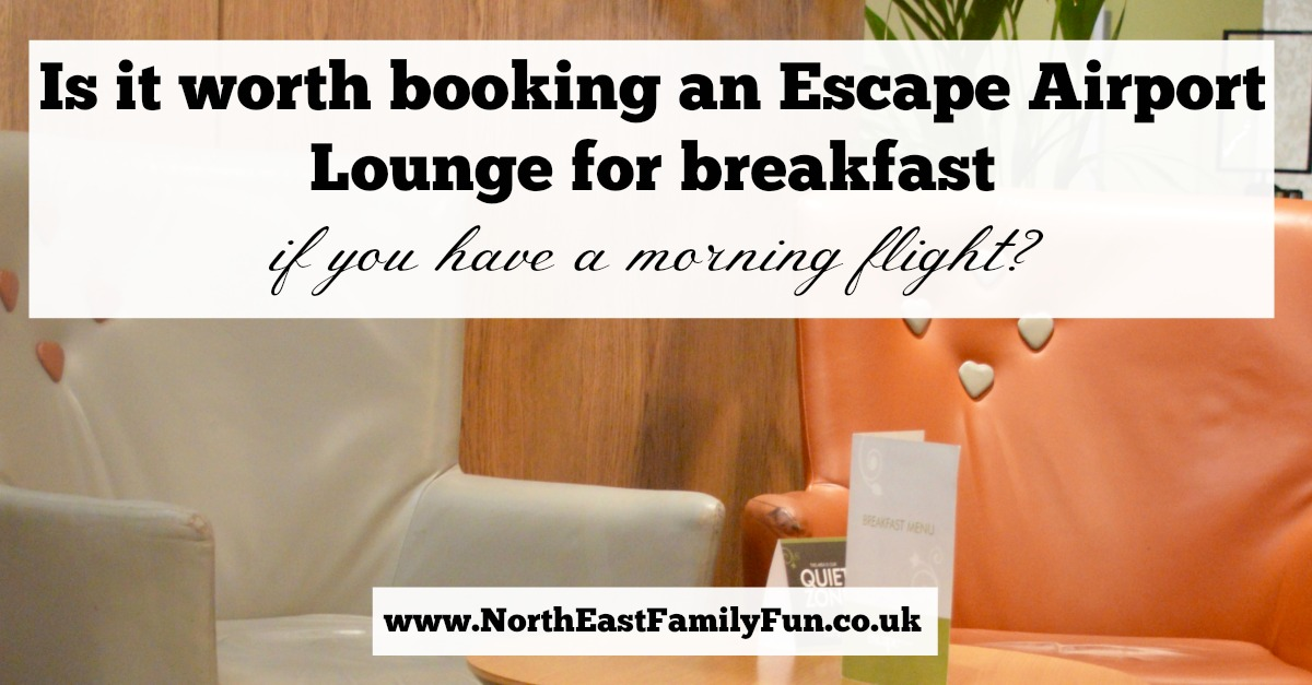 Is it worth booking an Escape VIP airport lounge for breakfast at Manchester airport if you have a morning flight?