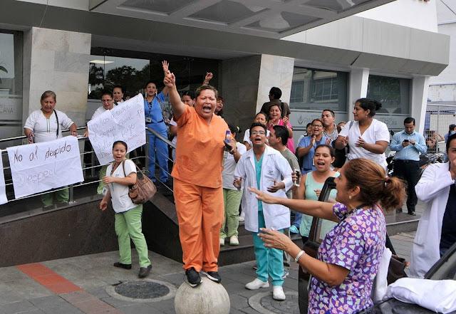 despido empleados clinica panamericana guayaquil ecuador