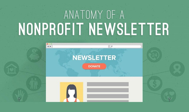 anatomy of a nonprofit newsletter infographic visualistan