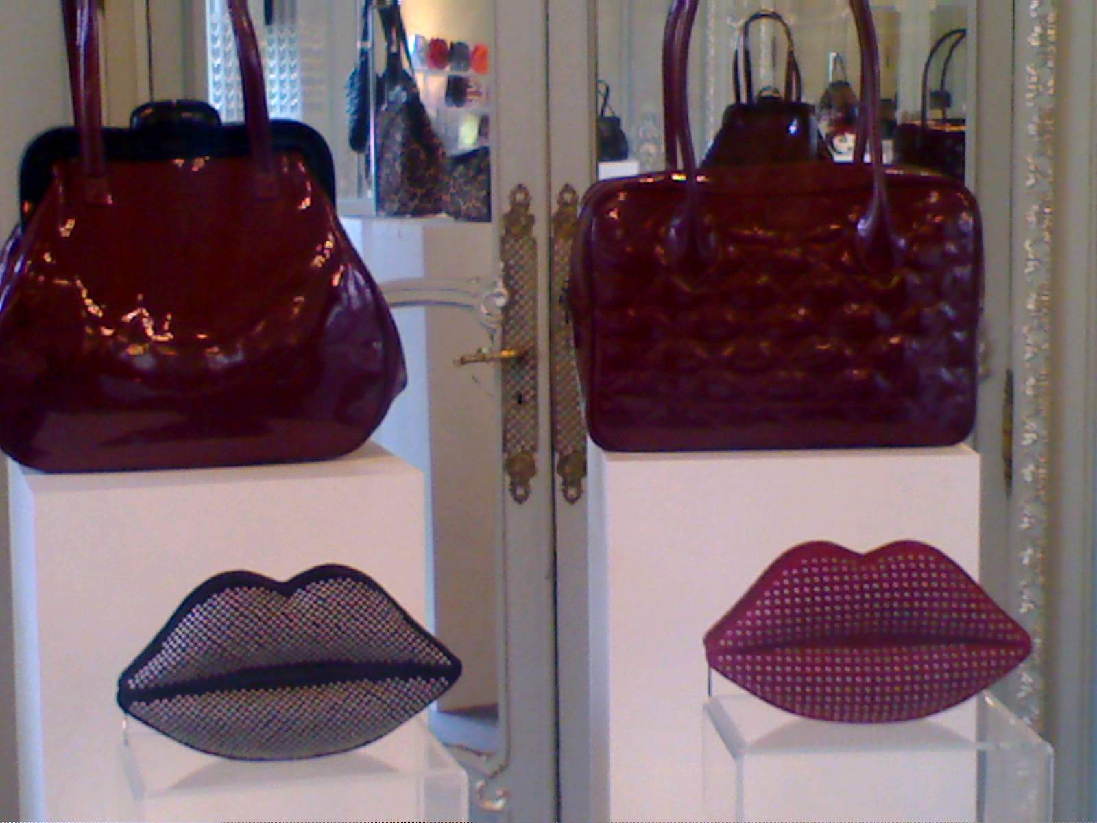 Lulu S Lips Clutches Also Get An Edgy Make Over With The Studs There Is Classic Black And Who Doesn T Want Cherry Bright Red Quilted
