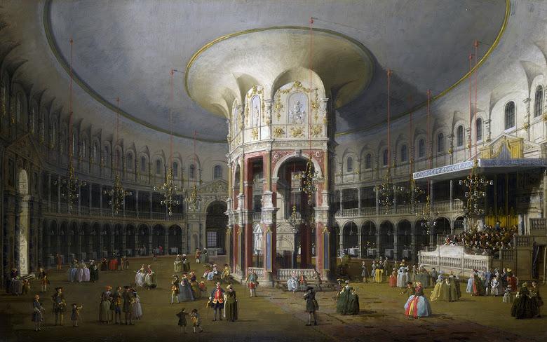 Canaletto - La rotonda dels jardins de Ranelagh (c.1754)