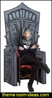 Seven Kingdoms Throne medieval party props decorating medieval theme party