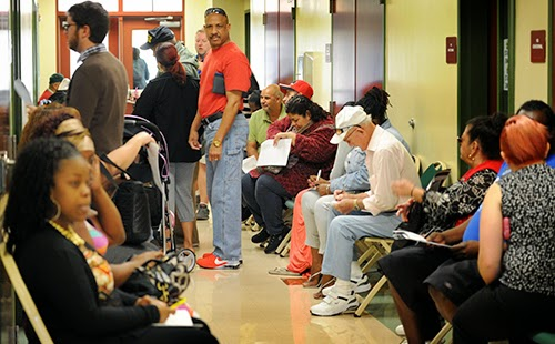 Low income families in line for healthcare