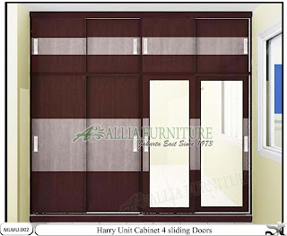 Lemari baju minimalis unit cabinet Harry