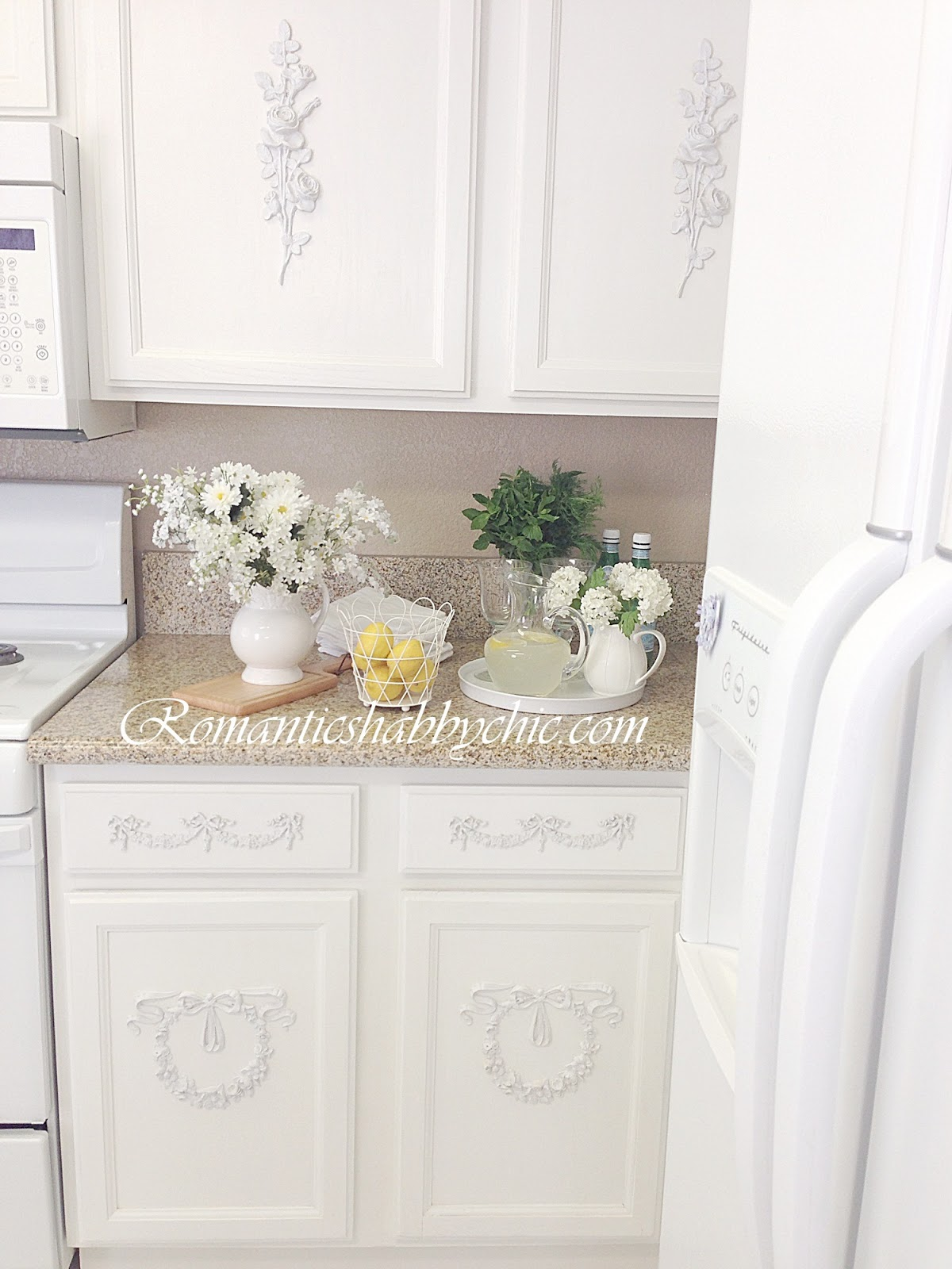 shabby chic kitchen decor terry cloth towels romantic home romanticshabbychic com