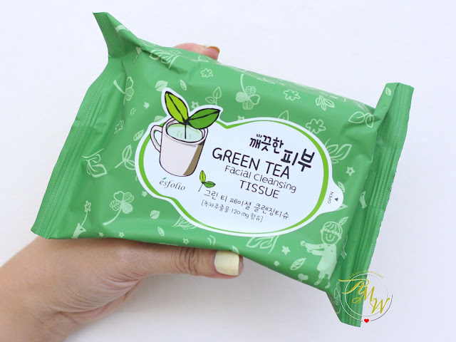 a photo of Esfolio Pure Skin Green Tea Facial Cleansing Tissue Review