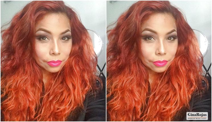 cabello color naranja por Gina Rojas