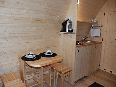 Case prefabbricate in legno Megapod cucina