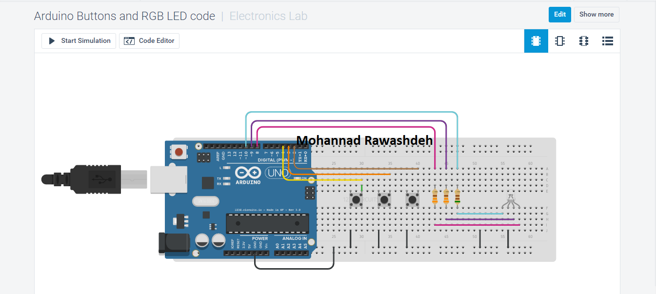Arduino Buttons and RGB LED code - M B Raw