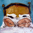 Artful Ideas: Feet in Bed Palette Knife Painting