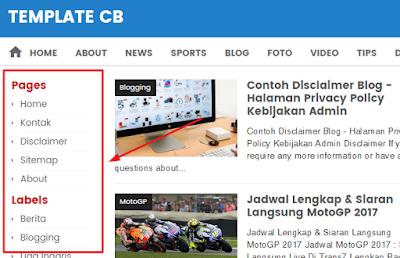 Satu Kolom Sidebar Kiri di Blogger