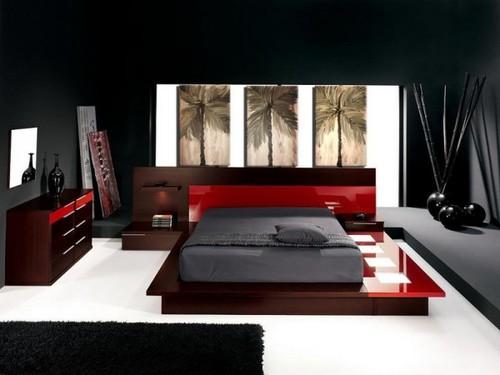 deco chambre interieur conceptions chambres coucher rouge et noir. Black Bedroom Furniture Sets. Home Design Ideas