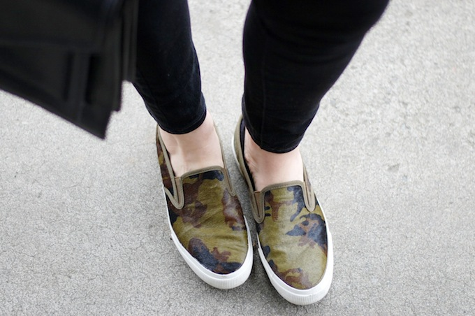 Joe Fresh Camouflage shoes Covet and Acquire Vancouver