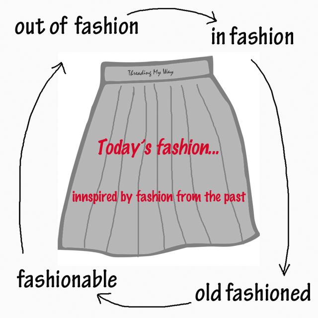 Garments are often inspired by fashions from the past. Take a look at pleated skirts for children from different eras ~ Threading My Way
