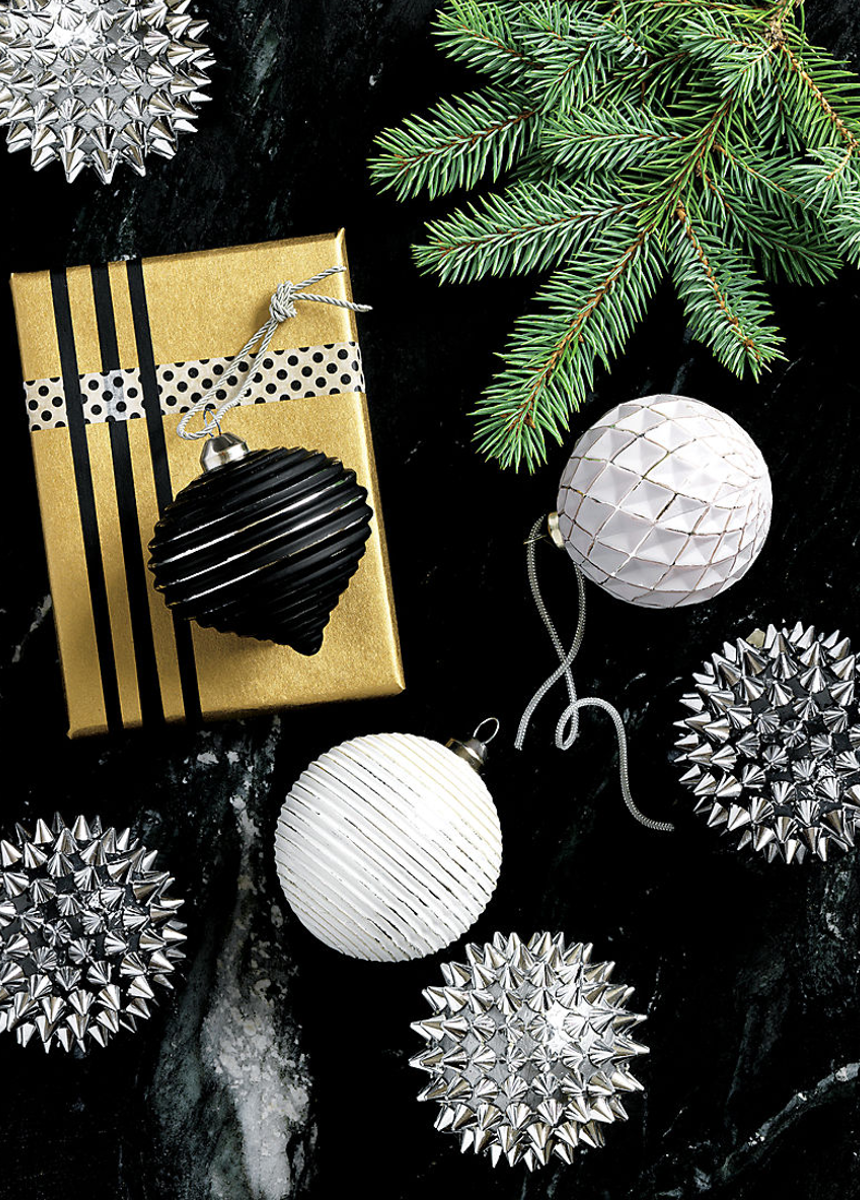 CB2 Spike Ball Ornaments