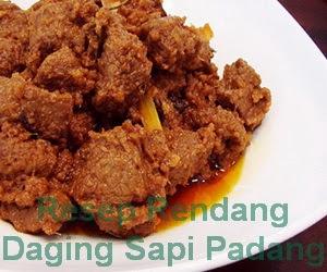 Resep Masakan Rendang Daging Sapi Padang