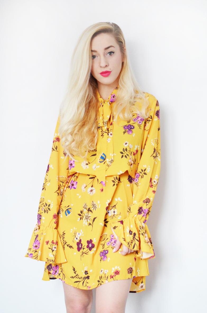 ŻÓŁTA SUKIENKA W KWIATY / yellow floral dress
