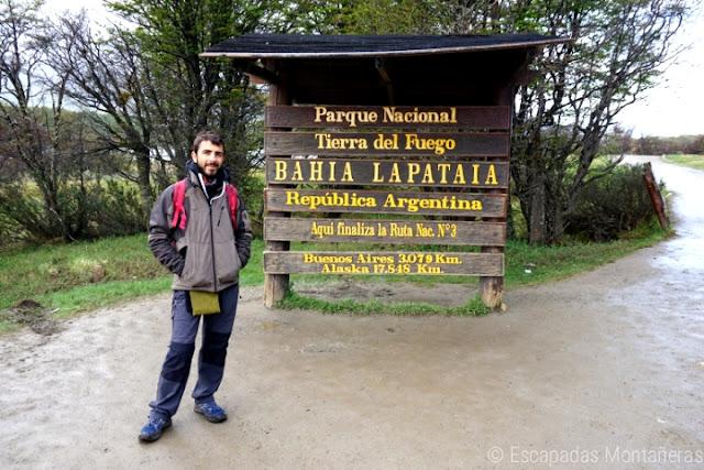 Bahia Lapataia en el Parque Nacional Tierra del Fuego, el fin del mundo!