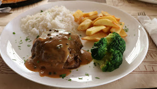 Pepper steak; very tasty