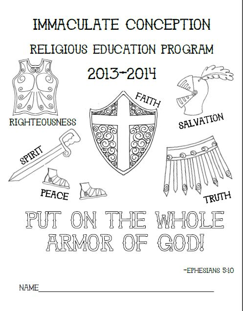 graphic regarding Printable Armor of God Worksheets named Search toward Him and be Radiant: Armor of God Folder Go over