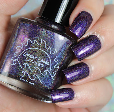 Great Lake Lacquers M-O-O-N, That Spells Purple | Make Your Stand Collection