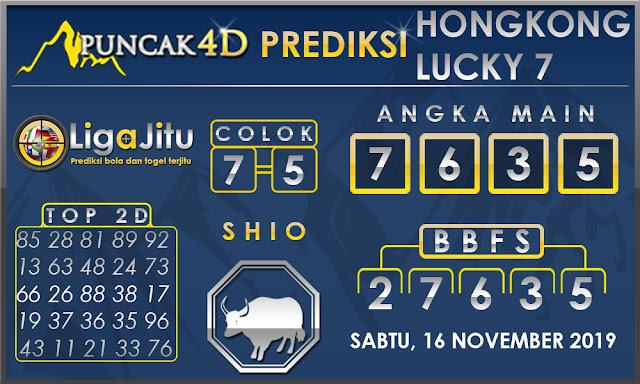 PREDIKSI TOGEL HONGKONG LUCKY7 PUNCAK4D 16 NOVEMBER 2019
