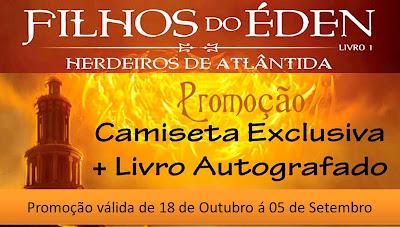 Promo: Filhos do Eden, autografado pelo autor Eduardo Spohr + camiseta especial do livro. 7
