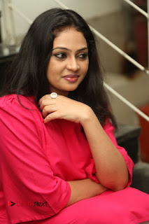 Actress Arundathi Nair Stills in Red Chididar at Bethaludu Success Meet  0090.JPG