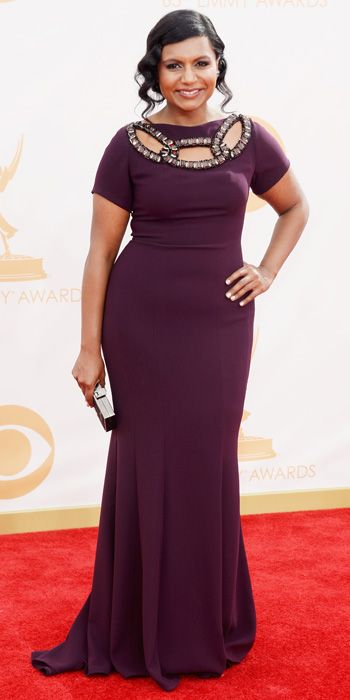 Mindy Kaling in Georges Chakra at the 65th Annual Primetime Emmy Awards, 2013