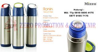 Souvenir RONIN Mizzu (Stainless), botol tempat minum Tumbler Ronin Vacuum Flask, Souvenir Thermos Ronin, Barang Promosi Custom Tumbler Ronin Vacuum Merchandise