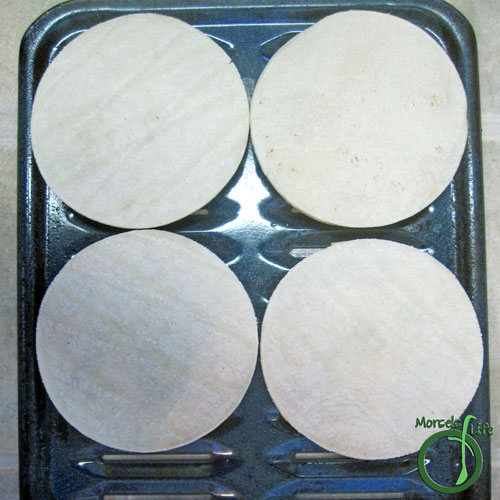 Morsels of Life - Avocado Bean Quesadillas Step 5 - Place other half of the tortillas on top and bake at 350F for about 15 minutes or cheese melted.