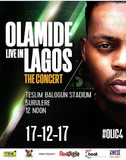 Lagos Announces Diversion Of Traffic For Olamide's Live In Concert 4h Edition (# Olic 4)