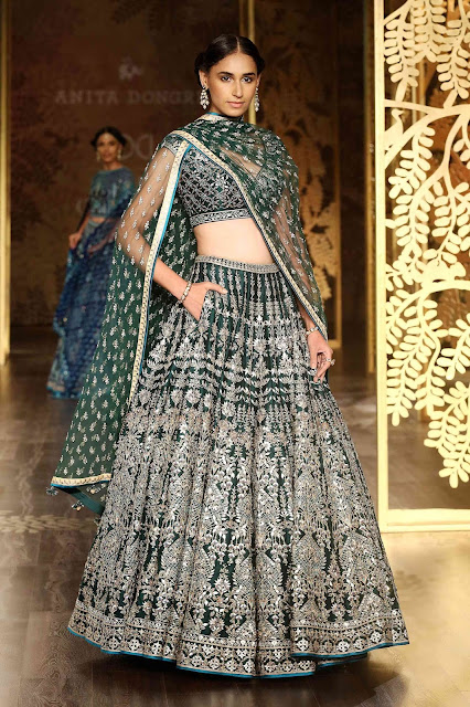 Bridal lehenga blue anita dongre top best 2018 2017
