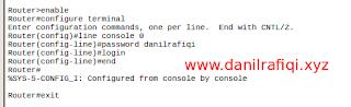 Cara Setting Password Router dan Switch Cisco