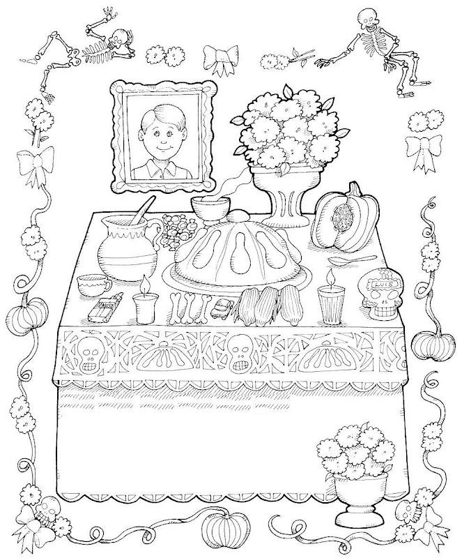 Pinto Dibujos: dibujos de calaveras del día de muertos