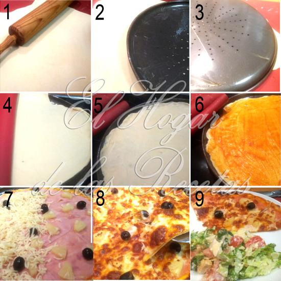5 Reglas para hacer una Pizza Perfecta. Imagen del paso a paso