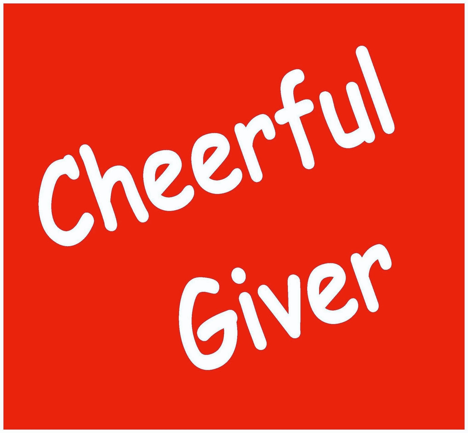Cheerful giver banner