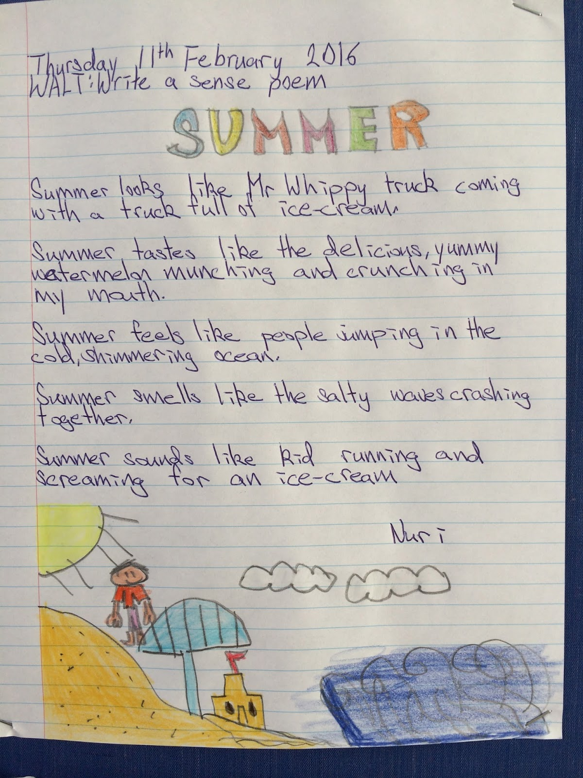 Summer Poems For School