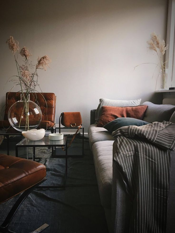 ilaria fatone living-room in rust tones for winter 2018