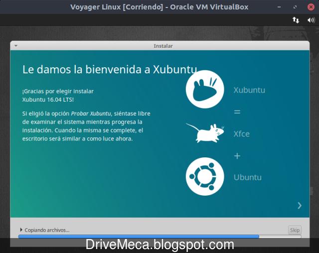 Comienza la instalacion de Voyager Linux