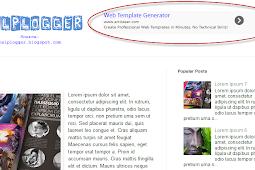 How to add a gadget/widget inside your Blogger Blog header
