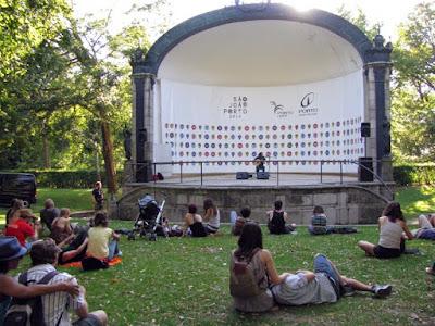 concerto ao ar livre no Porto