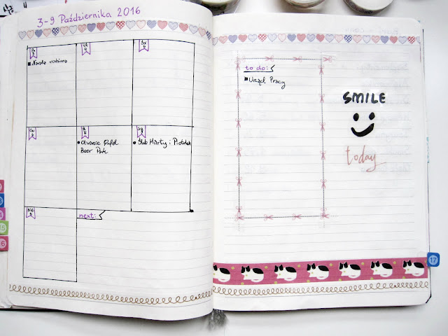 bullet journal weekly log