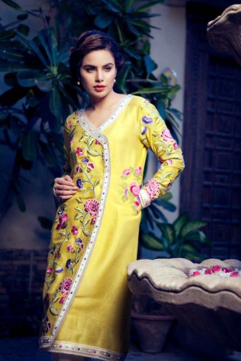 Layla Chatoor Pakistani designer Luxury Pret 2014