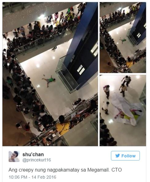 commits suicide at Megamall on Valentine's Day