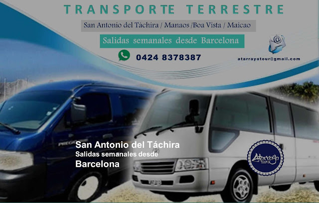 imagen Transporte terrestre semanal a San Antonio del Táchira  Manaos  Boa vista