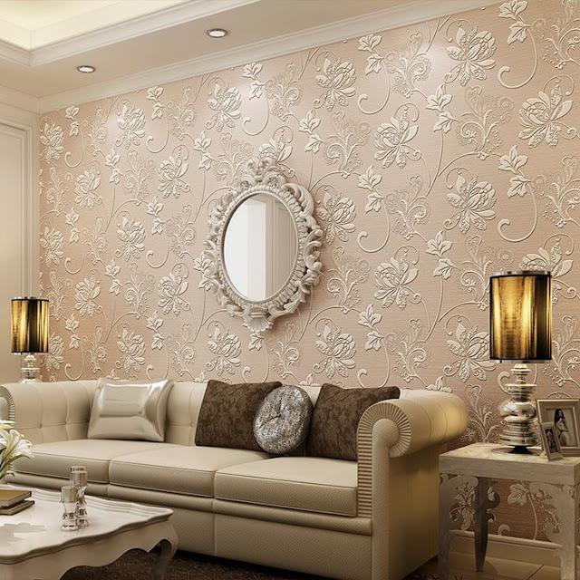 15 dicas e 51 inspira es para decorar a parede atr s do - Papel decorativo para paredes ...